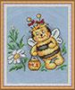 """Схема вышивки  """"Весёлая пчёлка """": таблица цветов."""